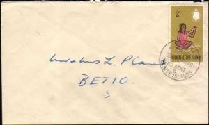 GILBERT & ELLICE IS 1965 local 2d rate cover Bairiki to Betio............33357