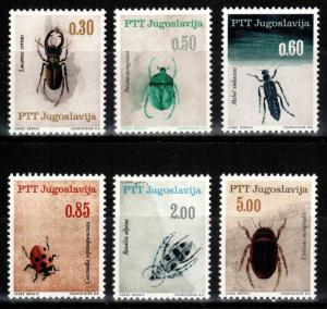 Yugoslavia 810-815, MNH, Insects  Beetles 1966. x28372