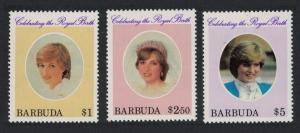 Barbuda Birth of Prince William of Wales 1st issue 3v SG#613-615