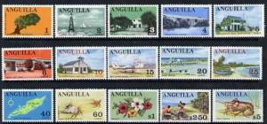 Anguilla 1967 definitive set 1c to $5 (ex 60c) unmounted ...