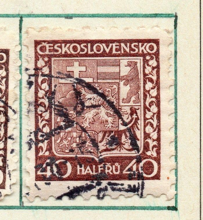 Czechoslovakia 1929 Early Issue Fine Used 40h. 230271