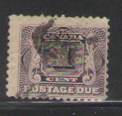 Canada Sc J1 1906 1 c Postage Due stamp used