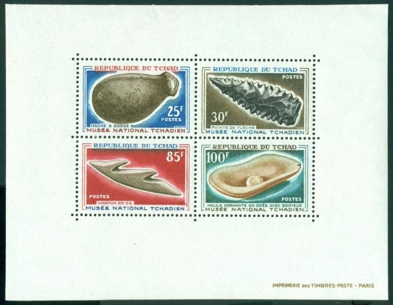 Chad Scott #137a MNH Pre-historic Tools CV$15+