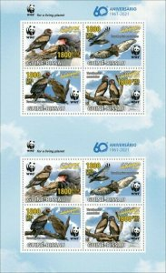 Guinea-Bissau - 2021 WWF 60 Years, Bird - 8 Stamp Sheet - GB210231d2