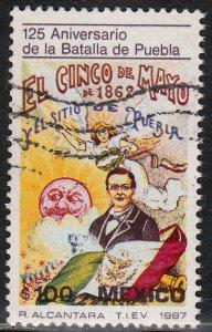 MEXICO 1478 BATTLE OF PUEBLA, CINCO DE MAYO 125th ANNIV.. Used. VF. (1237)