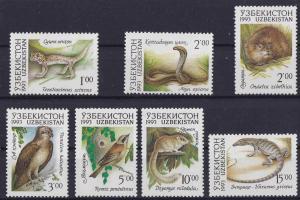 Uzbekistan 1993 #7-13 Complete Set MNH -- Animals