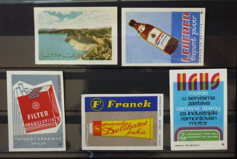 Yugoslavia Match Box Labels ! beer nature cigarette N6