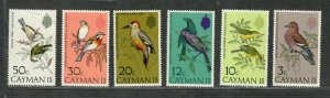 Cayman Islands Sc#322-327 M/NH/VF, Cv. $29.50