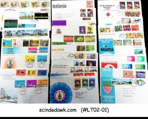 COLLECTION OF MALAYSIA FIRST DAY COVERS fr 1965-75 TO PRINCESS LILI OZAIR 31nos