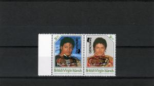 British Virgin Islands 1992 Michael Jackson ovpt.Halley's Comet/Genova