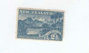 NEW ZEALAND # 74 VF-MLH 2.5cts LAKE WAKATIPU CAT VALUE $50