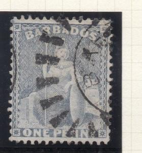 Barbados 1870s Early Issue Fine Used 1d. 294617
