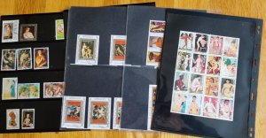 Topical Collection of Nudes on stamps.