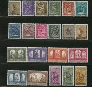VATICAN Sc#423-38, 445-47, E17-E18 1966 Three Cpl Sets Mint OG NH