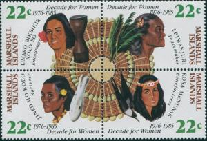 Marshall Islands 1985 SG46-49 Women set MNH