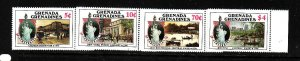 Grenada Grenadines-Sc#727-30-unused NH set-Statue of Liberty-1986-