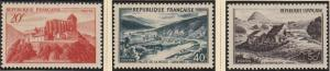 (SA) France Scott #630-32 MNH Complete Set of 3