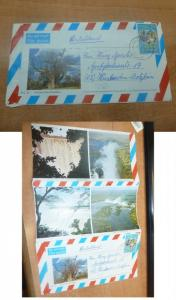 Zimbabwe Scouts on Pict Aerogramme Victoria Falls to Germany, message (61bee)