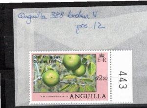 Anguilla 1980 Sc 387-8 MNH Commemorative Perforate Broken 'v' Variety