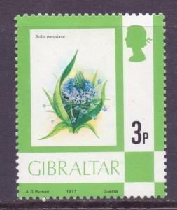 Gibraltar Scott 344 - SG378, 1977 Elizabeth II 3p MH*