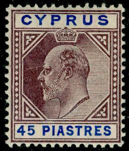 CYPRUS SG71, 45pi dull purple & ultramarine, NH MINT. Cat £120.