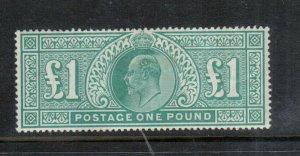 Great Britain #142 Very Fine Mint Full Original Gum Hinged