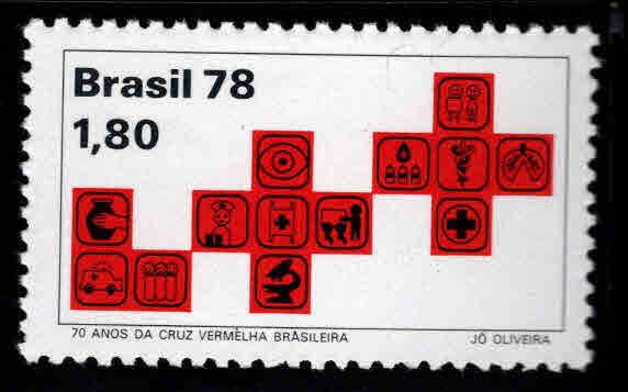 Brazil Scott  1597 MNH** .Red Cross stamp