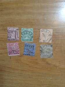 Germany  (North German Conf) SC #1-6  Used