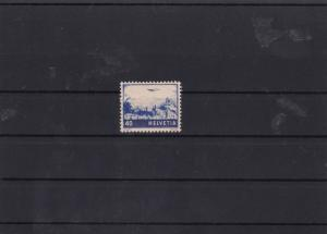 switzerland 1941 40c blue mnh stamp cat £85 ref 7061