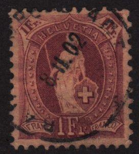 Switzerland 87 Helvetia 1882
