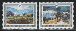 Liechtenstein 2006 Schuepp Paintings set Sc# 1343-44 NH