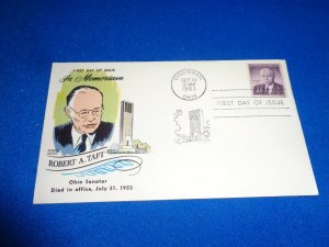 FLEUGEL MULTI COLORED CACHET FDC:  US SCOTT#  1161