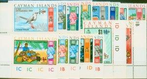 Cayman Islands 1969 Decimal set of 15 SG238-252 V.F MNH Colour Controls
