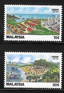 Malaysia 1981 Centenary of Sabah Sc 228-229 MNH A1171