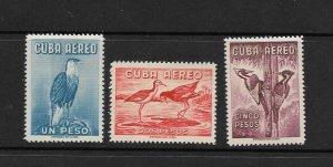 BIRDS - CUBA #C219-21   MNH