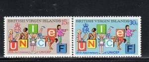 VIRGIN ISLANDS #233-234  1971  UNICEF 25TH. ANNIV.        MINT VF NH O.G