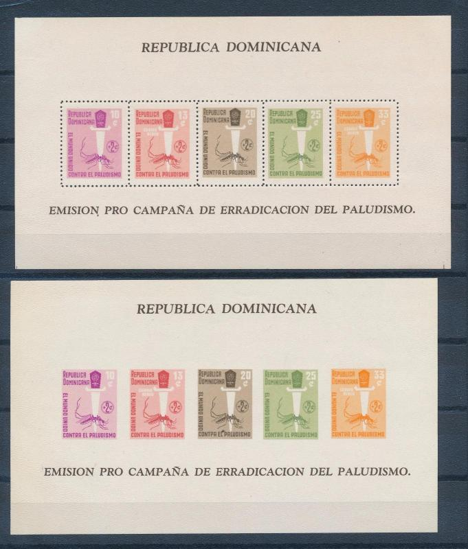 [36928] Dominican Republic 1962 Fight against malaria Perf. & Imperf. SS MNH