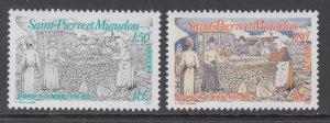 St Pierre and Miquelon 600-601 MNH VF