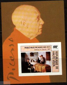 Picasso Painting, Science & Charity, Burkina Faso S/S SC#C222 MNH