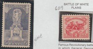 U.S. Scott #628-629 John Ericsson & White Plains Stamps - Mint Set