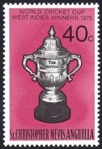 Saint Kitts-Nevis # 323 mnh ~ 40¢ World Cricket Cup