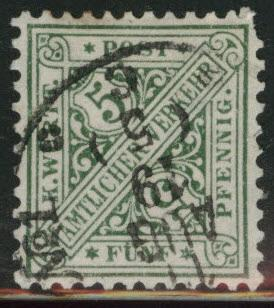 Germany State Wurttemberg Scott o121 MH* official