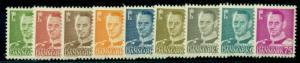 DENMARK #306-14 Frederick IX, Complete set, og, NH, VF, Scott $31.10