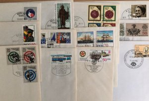 DDR 12 different FDCs