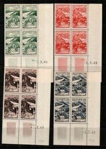 French Morocco Scott CB31-4 Mint NH blocks (Catalog Value $34.80)