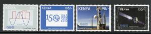 KENYA  2015 150th ANNIVERSARY IT'L TELECOMMUNICATIONS LOG  SET OF FOUR   MINT NH