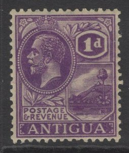 ANTIGUA SG64 1923 1d BRIGHT VIOLET MTD MINT