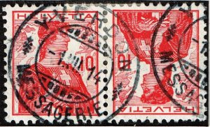 Switzerland Stamp  tête-bêche pair used stamp collection lot 10c