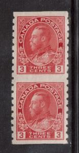 Canada #130a VF Mint Die 1 Imperforate Pair