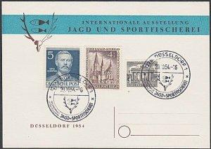 GERMANY 1954 Postcard : Sports cancel - nice franking.......................B333